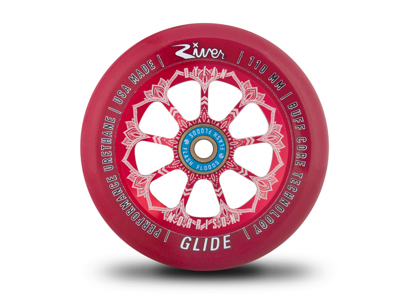 "River Wheel Co – ""Bloody"" Glides 110mm (Dylan Morrison Signature) - DeckedOut Scooters"