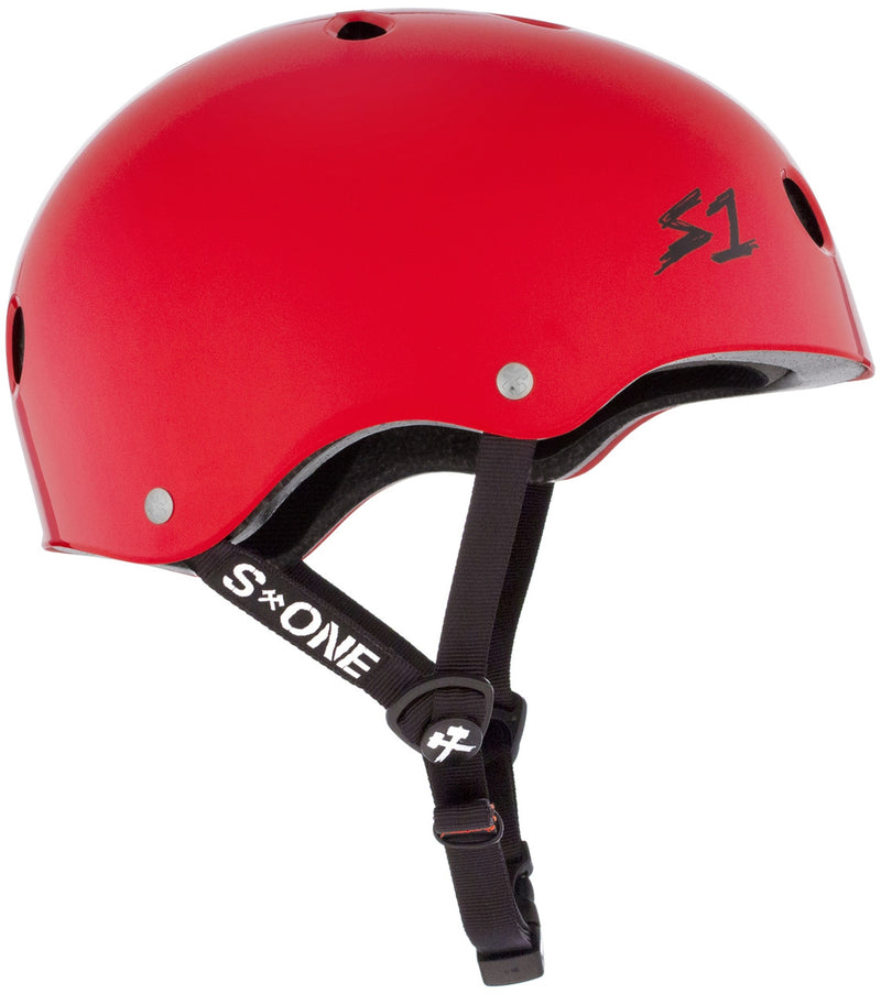S1 Lifer Helmet -- BRIGHT RED GLOSS