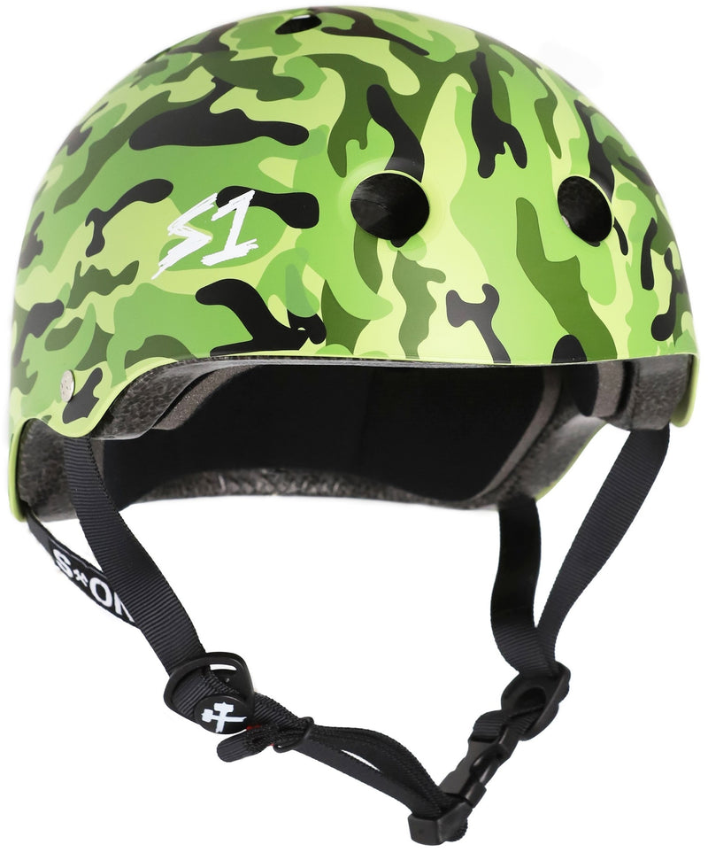 S1 Lifer Helmet -- GREEN CAMO MATTE