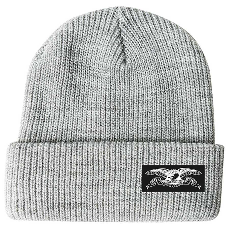 AntiHero STOCK EAGLE LABLE BEANIE HEATHER GREY