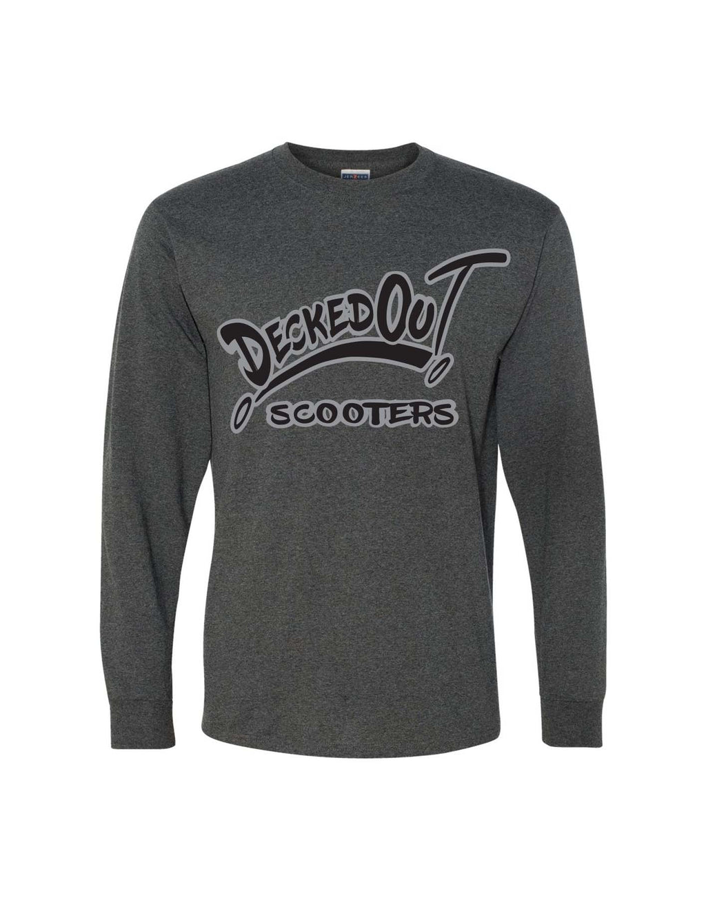 DeckedOut Long-sleeve 50/50 T-Shirt - DeckedOut Scooters