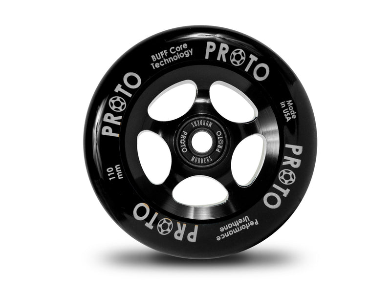 PROTO Sliders 110mm Black/Black - DeckedOut Scooters