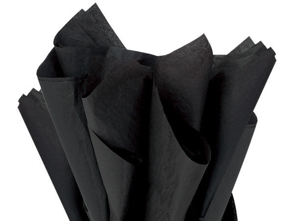 "Black Solid Tissue 20"" X 30"""