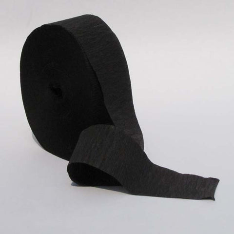 Black Crepe Paper Streamers 150' Long