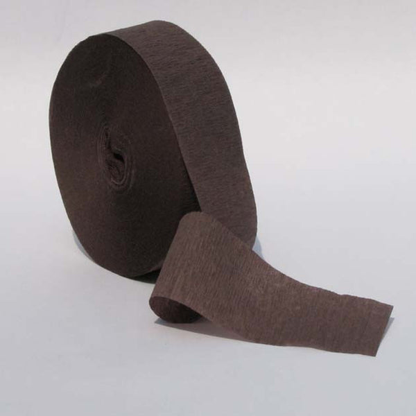 Brown Crepe Paper Streamers 150' Long