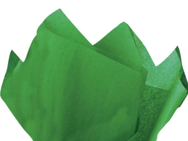 Dark Green Solid Tissue Paper 20X30