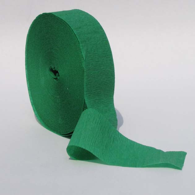 Emerald Green Crepe Streamers 150' Long