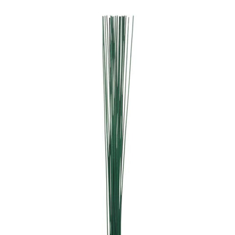 20 Gauge Painted Floral Stem Wire Green