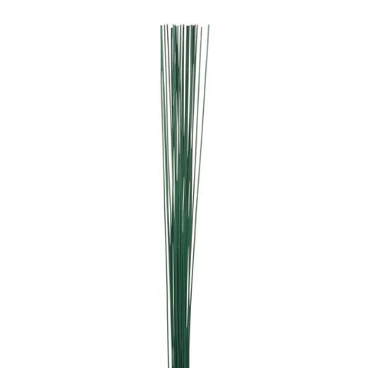 18 Gauge Painted Floral Stem Wire Green