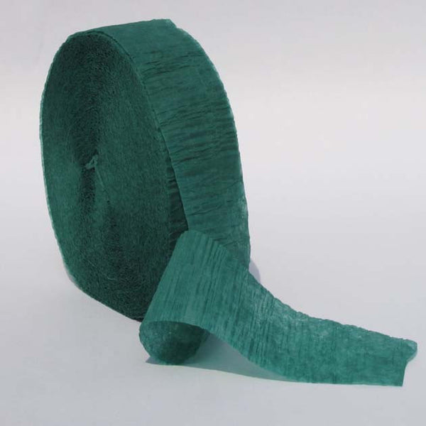 Hunter Green Crepe Paper Streamers 150' Long