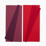Lia Griffith Extra Fine Crepe Paper - Double Sided 2 Count - Sangria & Aubergine + Cherry & Raspberry