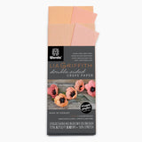 Lia Griffith Extra Fine Crepe Paper - Double Sided 2 Count - Honey Suckle & Coral + Apricot & Light Rose