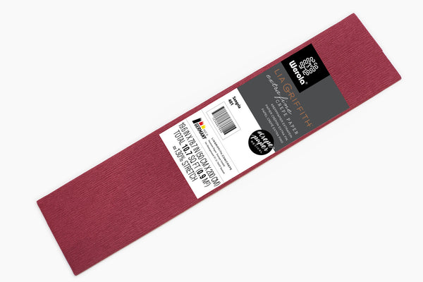 Lia Griffith Crepe Paper Folds Extra Fine - Single - Sangria