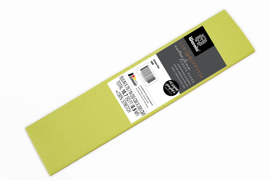 Lia Griffith Crepe Paper Folds Extra Fine - Single - Green Tea