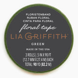 Lia Griffith Floral Tape - Moss Green 3-Pack