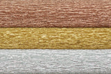 Lia Griffith Metallic Crepe Paper Folds Extra Fine - 3 pack Assortment - Silver, Gold & Copper