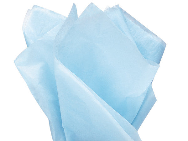 "Light Blue Solid Tissue 20"" X 30"""