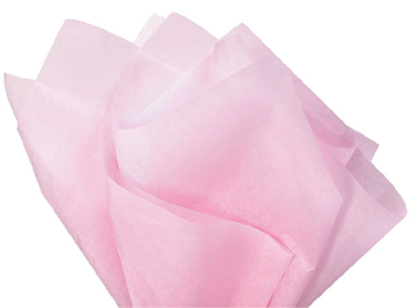 "Light Pink Solid Tissue 20""x30"""