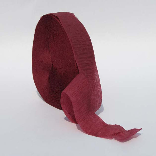 Maroon Crepe Paper Streamers 150' Long