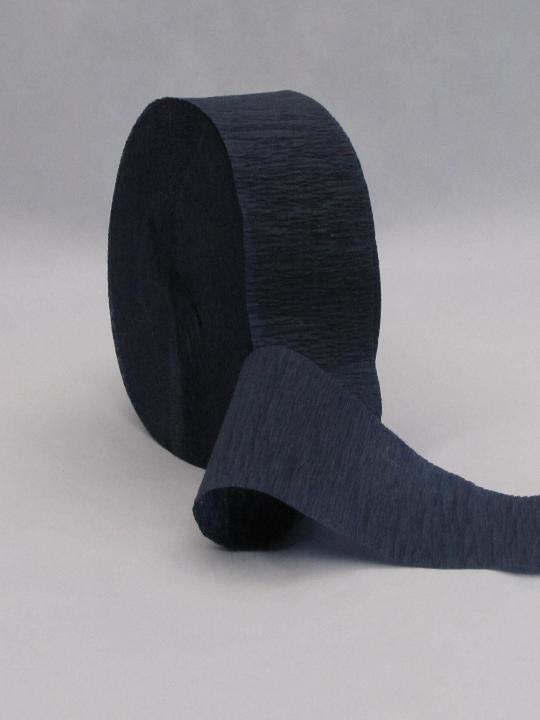 Navy Crepe Paper Streamer 150' Long