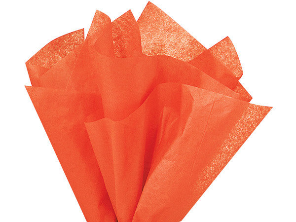 "Orange Solid Tissue 20"" X 30"""