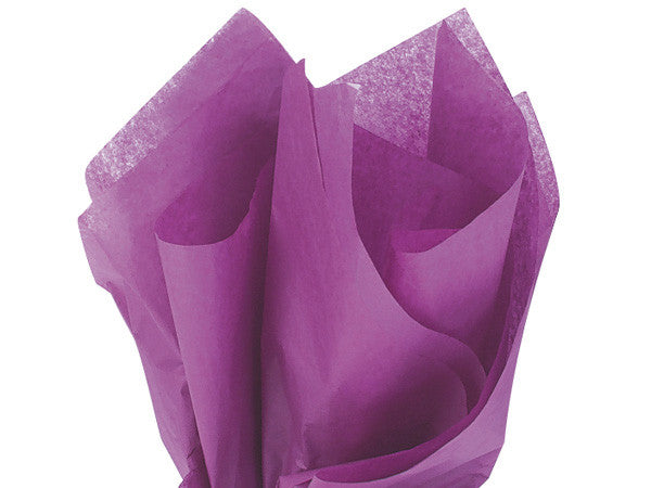 "Plum Solid Tissue 20""x30"""