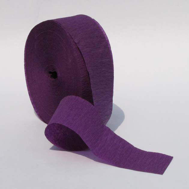 Purple Crepe Paper Streamers 150' Long