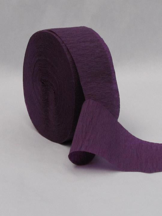 Purple Crepe Paper Streamers 81' Long