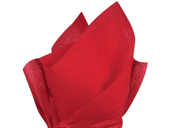 "Red Solid Tissue 20"" X 30"""