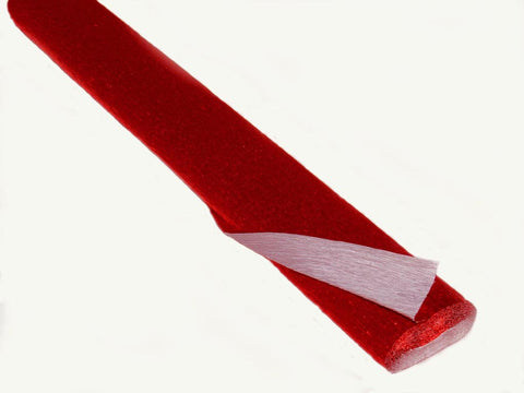 Metallic Red Crepe Paper