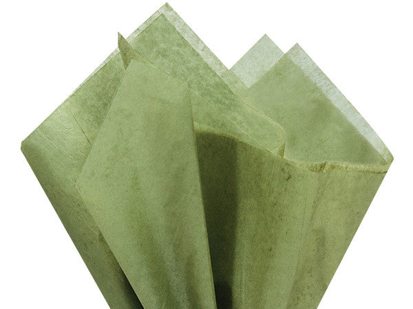 Solid Tissue Paper Tapestry Green