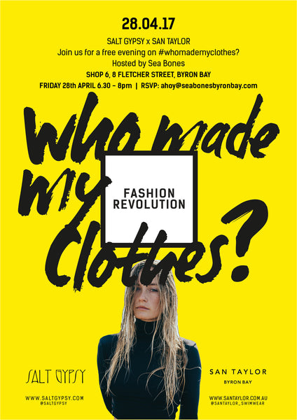 #whomademyclothes? An evening hosted by Sea Bones Byron Bay