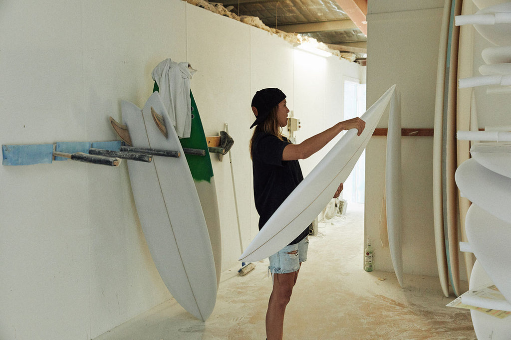 ways away surfboards x seabones collaboration #womeninwaves #supportlocal