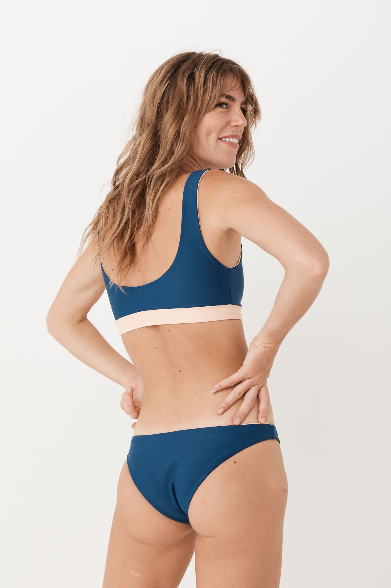 SEA BONES - Surf Bottoms - Sea Blue/Peach