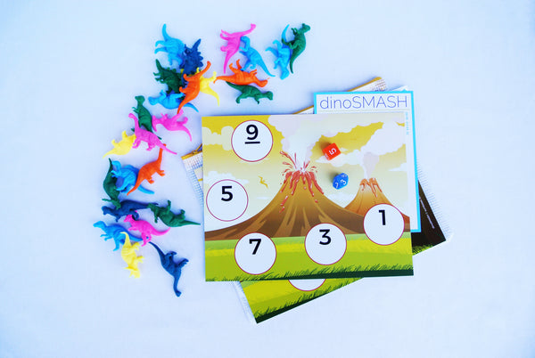 dinoSmash dinosaur math game