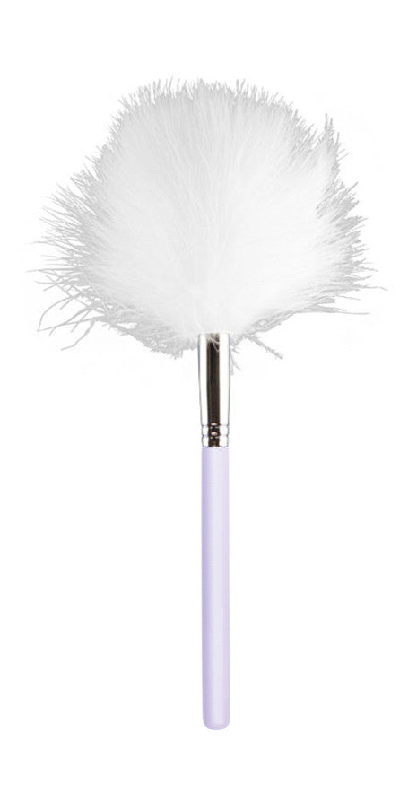 White Ostrich Feather Brush - Valerie Beverly Hills