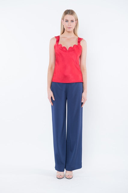 AVERY Scalloped Top - Red