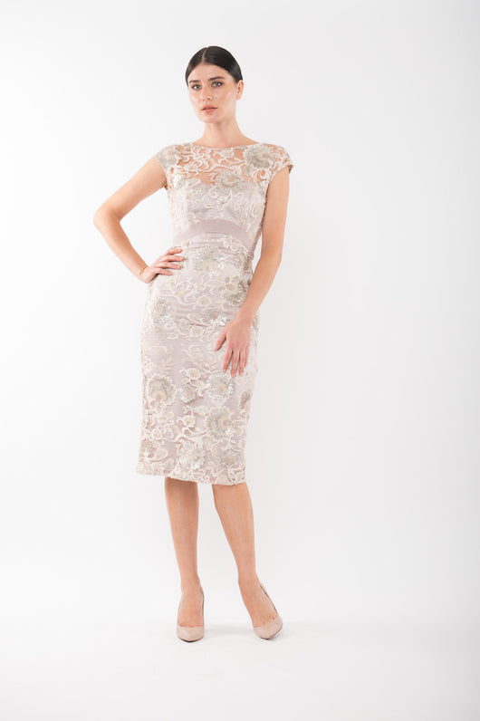MARILYN Lace Dress - Blush