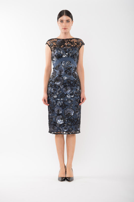 MARILYN Lace Dress - Navy