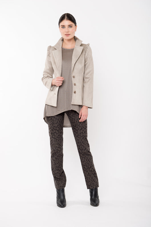 GEORGIE Faux SuedeTailored Jacket - Mink