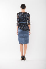JANE Pencil Skirt - Steel