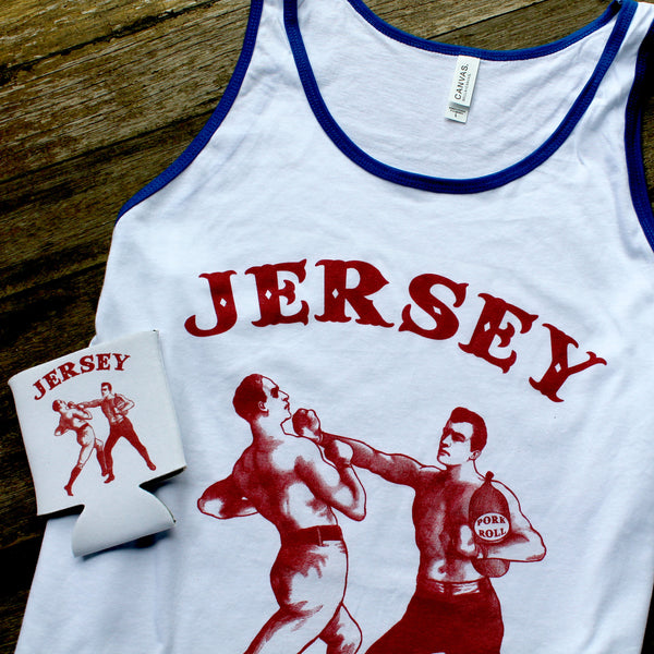 "NEW Red, White, & Blue ""New Jersey Pork Roll"" tank top"