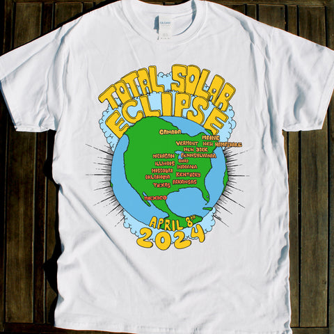 April 8 2024 Total Solar Eclipse shirt art for sale