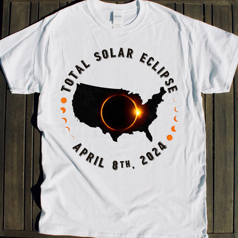 2024 Total Solar Eclipse shirts for sale event souvenirs