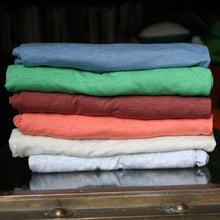 Bella Canvas triblend shirts: Blue, Green, Clay, Orange, Oatmeal, and White Fleck style 8413