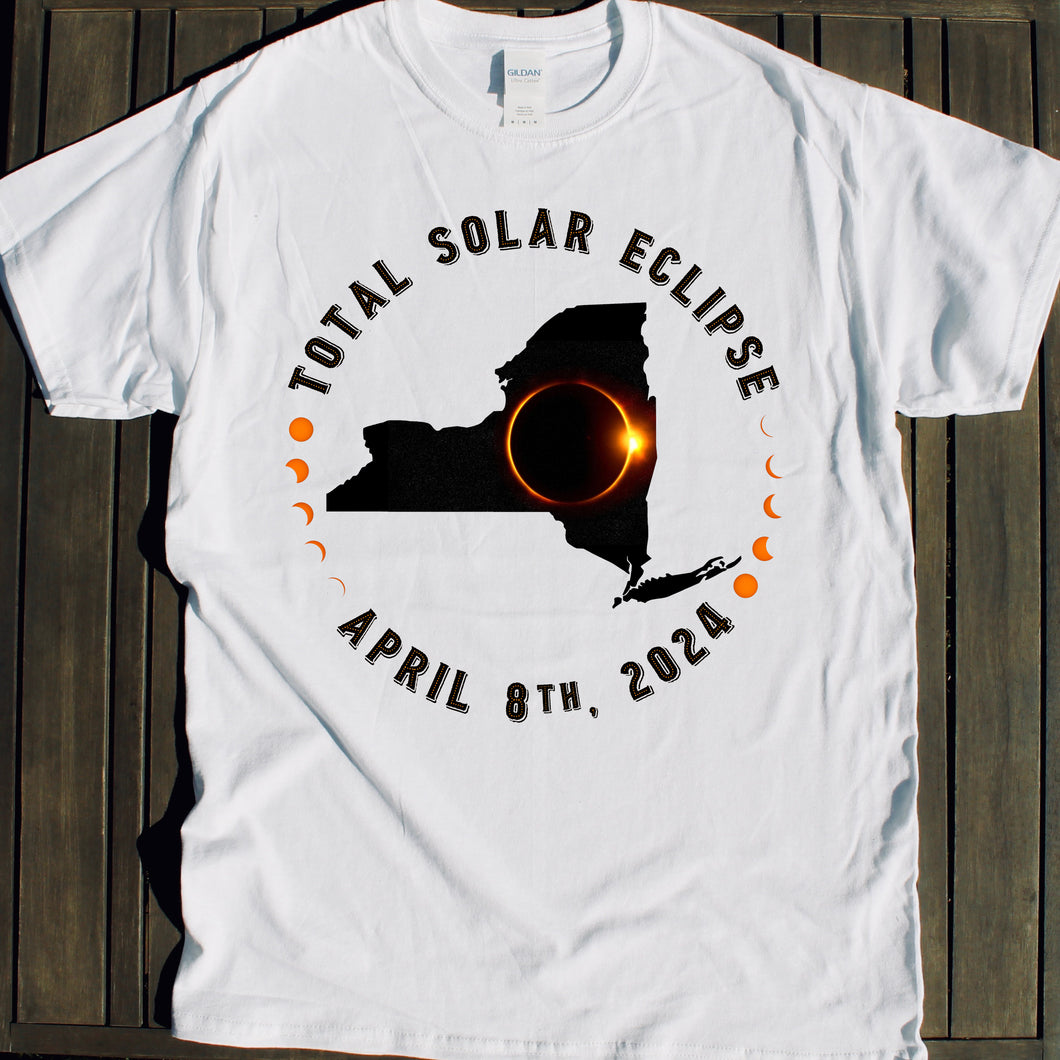 New York Total Solar. Eclipse shirt souvenir for sale viewing party NYC April 8 2024