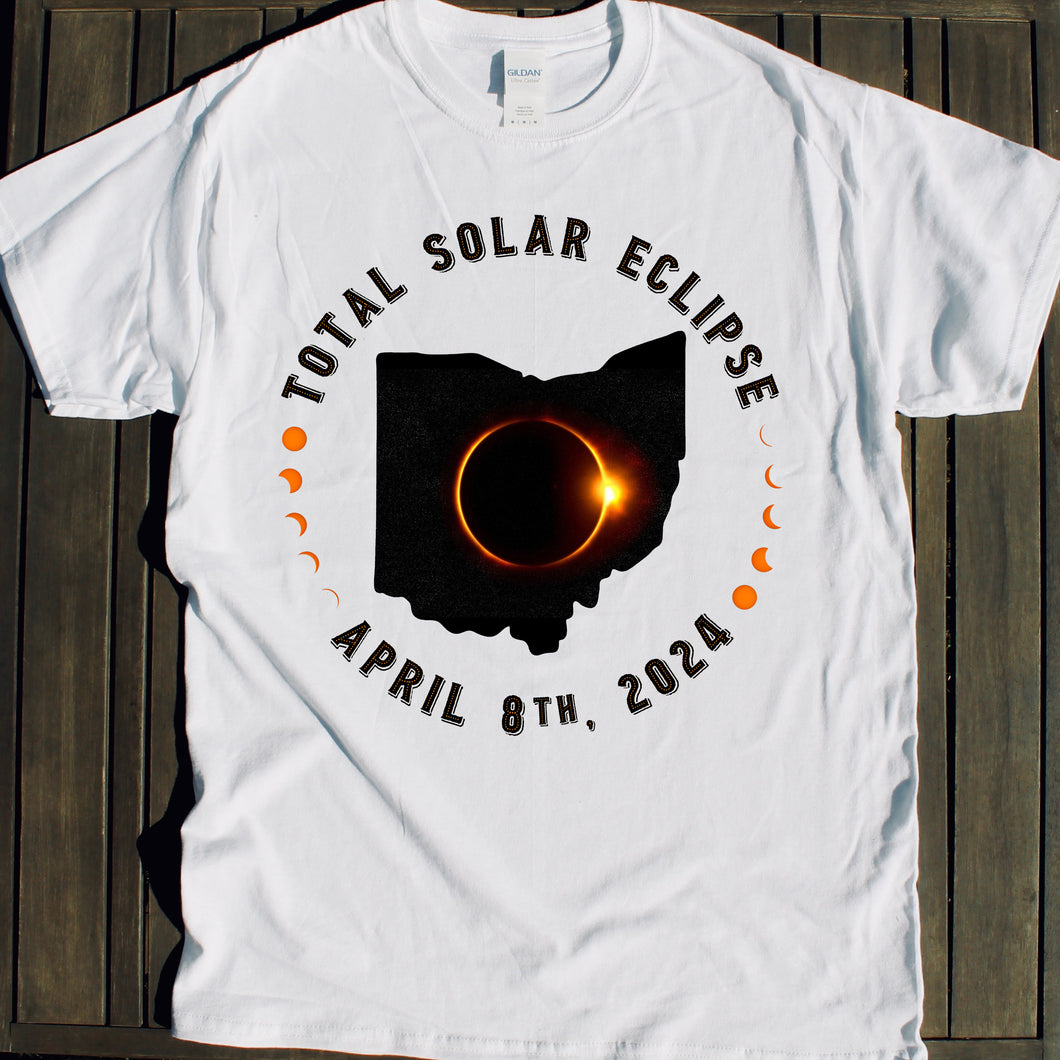 2024 Total Solar Eclipse Ohio shirt souvenir party tshirt viewing party sale