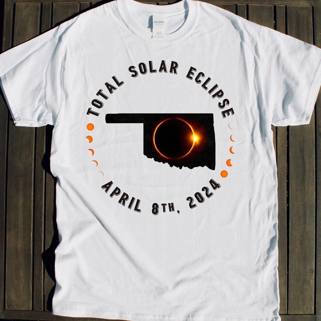 Oklahoma Total Solar Eclipse 2024 souvenir shirt for sale viewing party tshirt