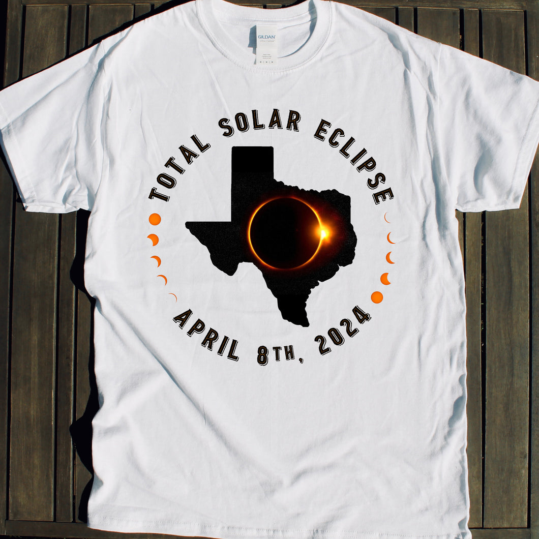 Texas Total Solar Eclipse shirt souvenir April 8 2024 for viewing parties events