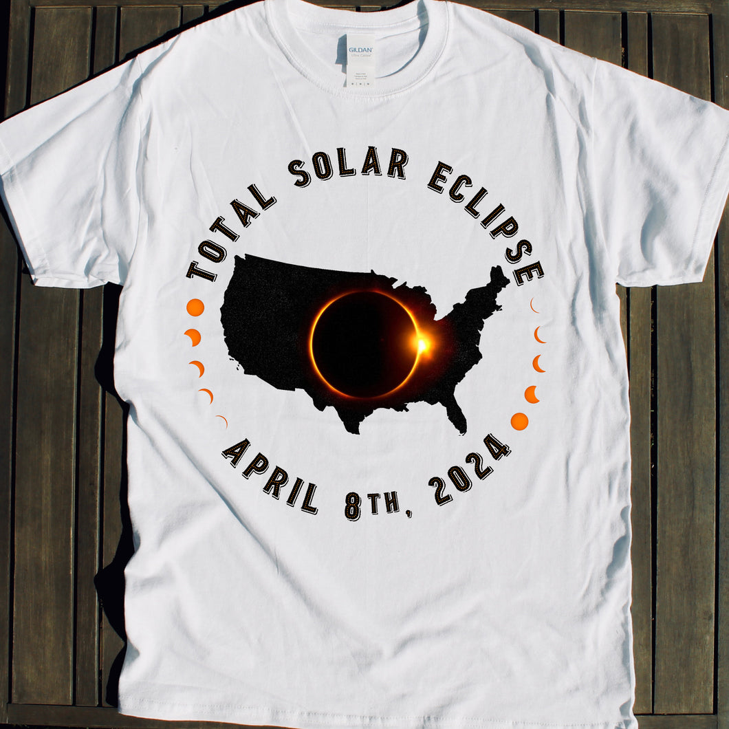 2024 total solar eclipse shirt map souvenir for sale tshirt event